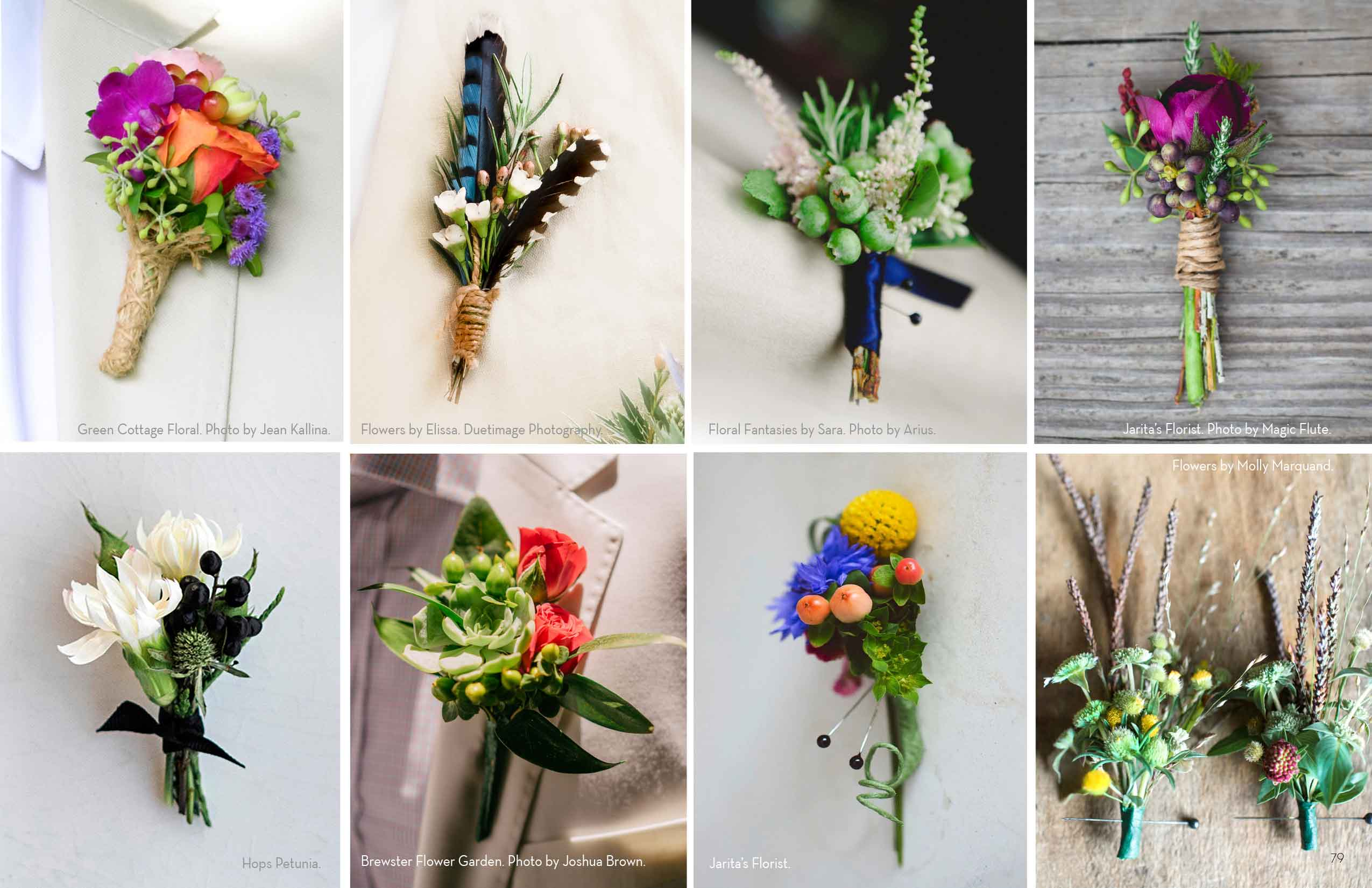 WEDDING GUIDE 2016 BOUTONNIERES